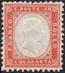 1862 - Effige di Vittorio Emanuele II in rilievo entro un ovale