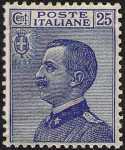 1908 - Effige di Vittorio Emanuele III - volta a sinistra - tipo detto «Michetti»