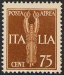 Posta aerea - Soggetti allegorici - 75 c.
