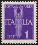 Posta aerea - Soggetti allegorici - 1 L.