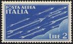 Posta aerea - Soggetti allegorici - 2 L.