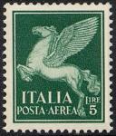 Posta aerea - Soggetti allegorici - 5 L.