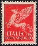 Posta aerea - Soggetti allegorici - 10 L.