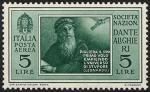 122Posta aerea - Pro Società Nazionale «Dante Alighieri» - Ritratto di Leonardo da Vinci