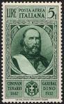 Posta aerea - 50° Anniversario della morte di Giuseppe Garibaldi - Ritratto di Garibaldi