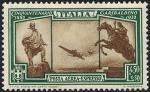 Posta aerea - 50° Anniversario della morte di Giuseppe Garibaldi - monu