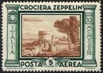 Posta Aerea - Crociera in Italia del dirigibile Graf Zeppelin - Tomba di Cecilia Metella