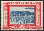 Posta Aerea - Crociera in Italia del dirigibile Graf Zeppelin - Stadio dei marmi