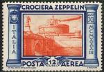 Posta Aerea - Crociera in Italia del dirigibile Graf Zeppelin - Ponte e Castel Sant'Angelo