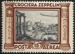 Posta Aerea - Crociera in Italia del dirigibile Graf Zeppelin - Foro romano