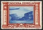 Posta Aerea - Crociera in Italia del dirigibile Graf Zeppelin - Basilica di Massenzio e Colosseo