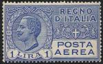 Posta aerea - Effigie di Vittorio Emanuele III entro un ovale - 1 L.
