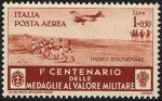 Posta Aerea - Centenario della istituzione delle Medaglie al Valor Militare - Truppe coloniali,  «i fedeli d'oltremare»