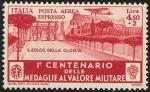 Posta Aerea - Centenario della istituzione delle Medaglie al Valor Militare - Arco di Costantino,  «il solco della gloria»