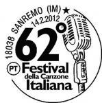 speciale annullo filatelico - 62° festival di Sanremo
