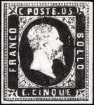 1851 - Prima emissione - Effige di Vittorio Emanuele II
