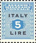 Governo alleato  per la Sicilia - 5 Lire.