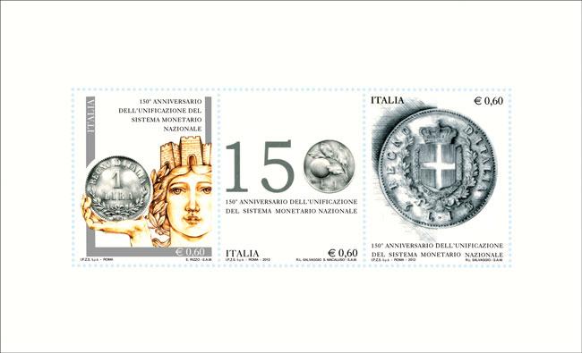 150° anniversario dell'unificazione del sistema monetario nazionale