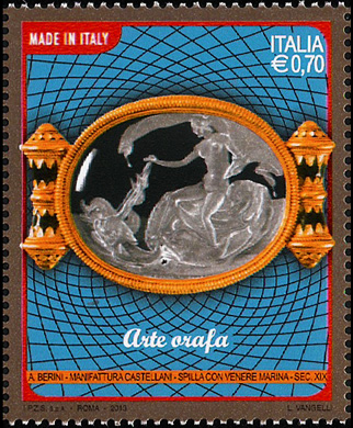 Arte orafa - spilla con Venere marina  -   Sec. XIX