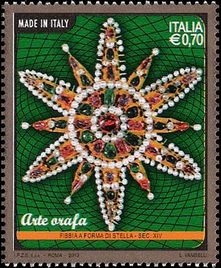 Arte orafa - fibia del  Sec. XIV