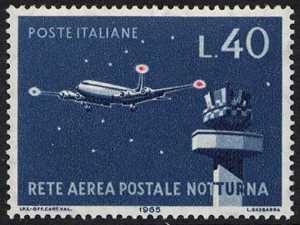 Inaugurazione della rete aerea postale notturna - aereo 'Viscount'