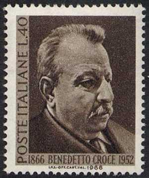 Centenario della nascita di Benedetto Croce - ritratto del filosofo