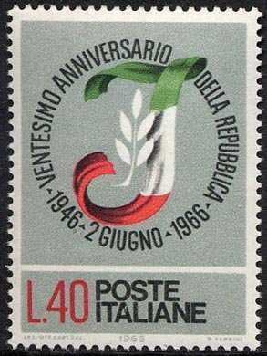 Ventennale della Repubblica - L. 40