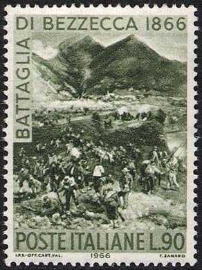 Centenario della Battaglia di Bezzecca - scena della battaglia