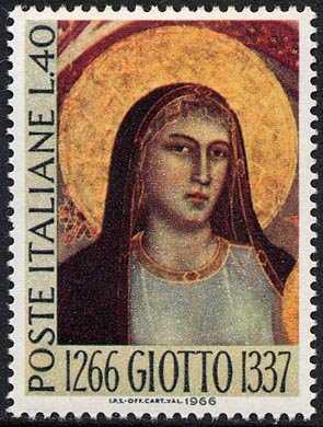 7° Centenario della nascita di Giotto - 'Madonna in Maestà' - Galleria degli Uffizi