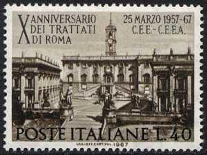 Decennale dei Trattati di Roma istitutivi della CEE e della CEEA - L. 40