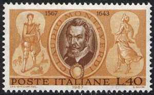 4° Centenario della nascita di Claudio Monteverdi - ritratto del musicista