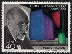 Centenario della nascita di Luigi Pirandello - ritratto dello scrittore