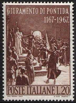 8° Centenario del Giuramento di Pontida - dipinto di Adolfo Cao, galleria Comunale di Cagliari