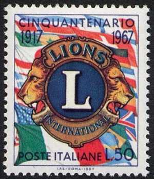 Cinquantenario della fondazione dei Lions Clubs - L. 50