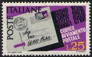 Codice di avviamento postale - L. 25
