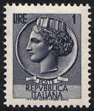 ' Italia Turrita ' - L. 1 - fluorescente