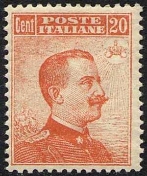 1916 - Effige di Vittorio Emanuele III - volta a destra