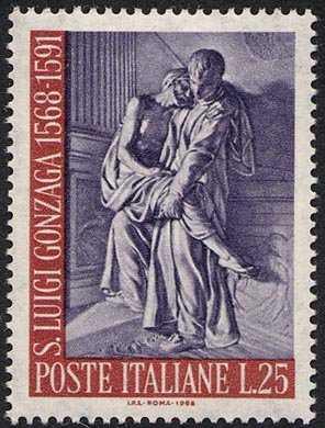 4° Centenario della nascita di S. Luigi Gonzaga - scultura di Pierre Legros