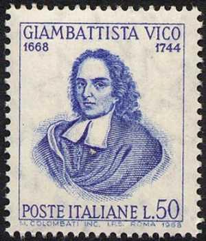 3° Centenario della nascita del filosofo Giambattista Vico - ritratto
