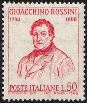 Centenario della morte di Gioacchino Rossini - ritratto del musicista