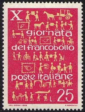 X Giornata del Francobollo - L. 25