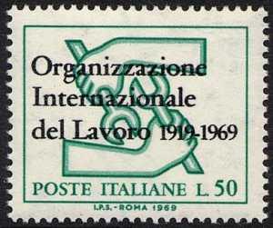 Cinquantenario dell'Organizzazione internazionale del Lavoro - L. 50