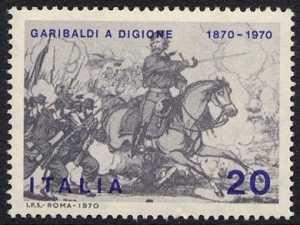 Centenario della partecipazione garibaldina alla guerra franco-prussiana - stampa popolare francese
