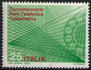 Completamento della rete telefonica teleselettiva - L. 25