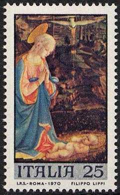 Natale - Dipinti di Filippo Lippi e di Gentile da Fabriano - Vergine e Bambino