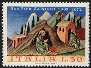 9° Centenario della morte di San Pier Damiani - miniatura di Giovanni di Paolo