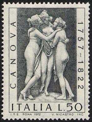 150° Anniversario della morte di Antonio Canova -Le tre Grazie