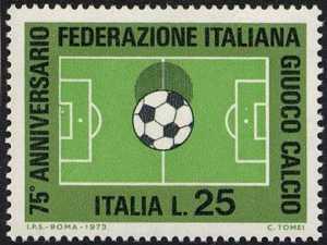 75° Anniversario della fondazione della Federazione Italiana Gioco Calcio - campo di gioco