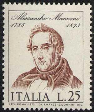 Centenario della morte di Alessandro Manzoni - ritratto di Francesco Hayez