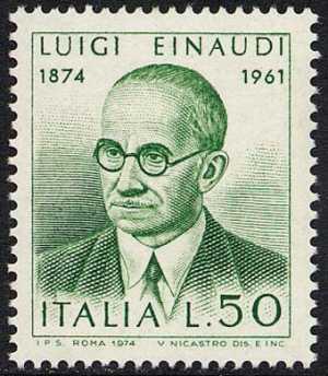 Centenario della nascita di Luigi Einaudi - ritratto dell'economista